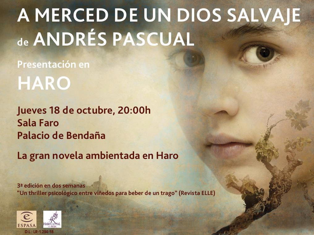 Andrés Pascual presenta su novela ambientada en Haro