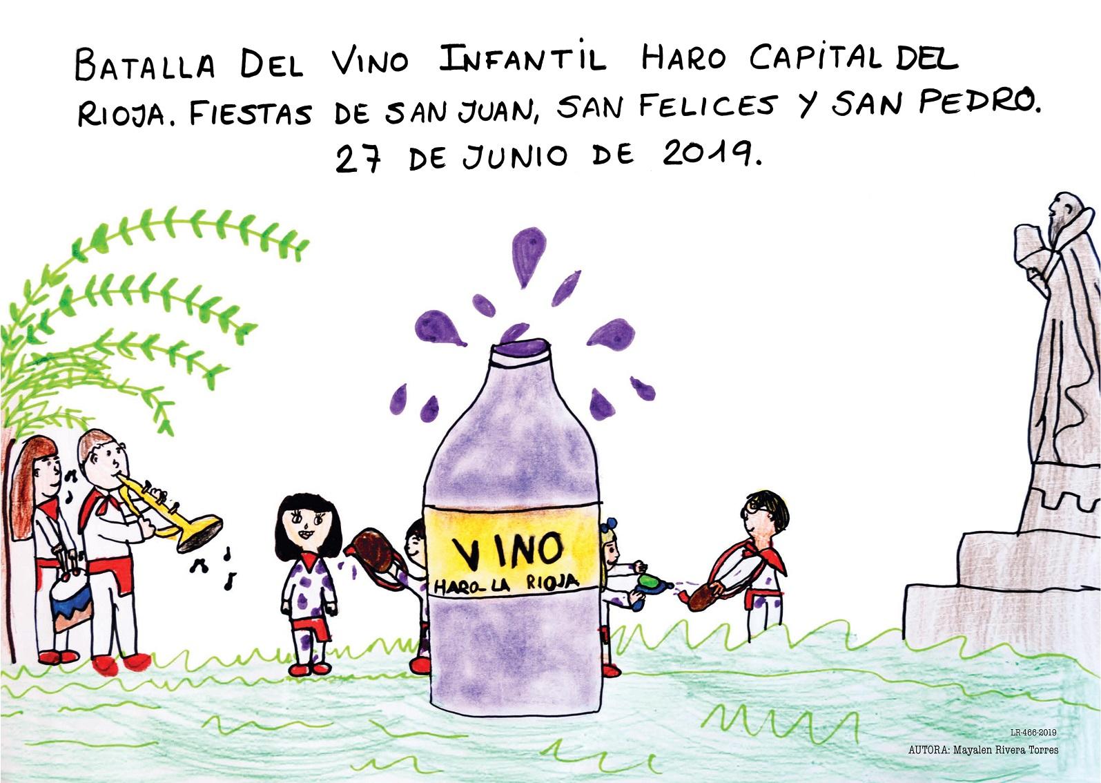 Cartel de la Batalla del Vino Infantil