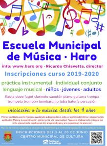 La Escuela Municipal de Música de Haro abre el periodo de inscripción
