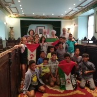 """García recibe a los participantes del programa """"Vacaciones en Paz"""""""