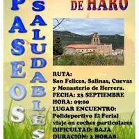 Este domingo se desarrollará una nueva edición de los Paseos Saludables de Haro