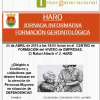 El Ayuntamiento de Haro colabora en un Curso de Atención Gerontológica para el Medio Rural