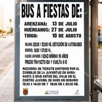 AMPLIADO EL SERVICIO DE AUTOBÚS A FIESTAS DE LOS PUEBLOS