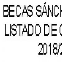 LISTADO BECAS SÁNCHEZ DEL RÍO / CIUDAD DE HARO