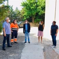 La Alcaldesa de Haro visita el depósito de abastecimiento de agua recién reformado